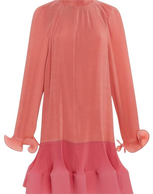 Item - Pink Pleated Long Sleeve Short Cocktail Dress Size 2 (XS)