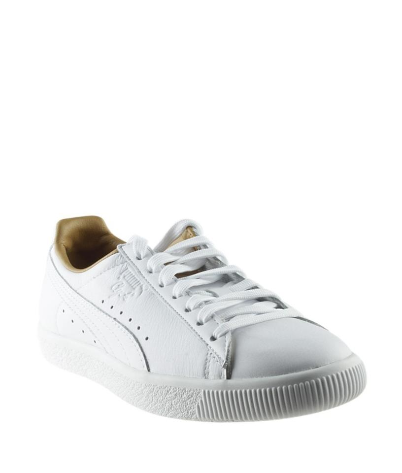 on sale 4b175 b3c40 Puma White Women's Clyde Leather Low Sneakersx (166768) Formal Shoes Size  US 8.5 Regular (M, B)
