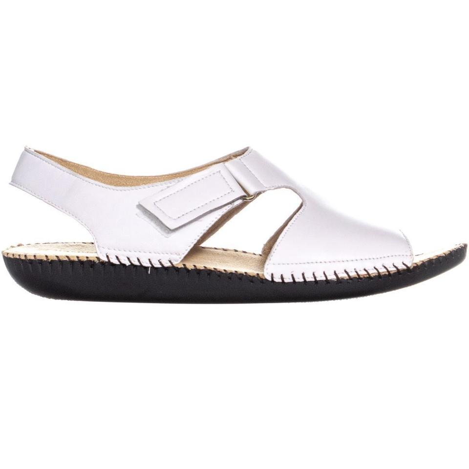 f7d53e6a1aad Naturalizer White Scout Heel Sandals Leather   38 Eu Wedges Size US 8  Regular (M
