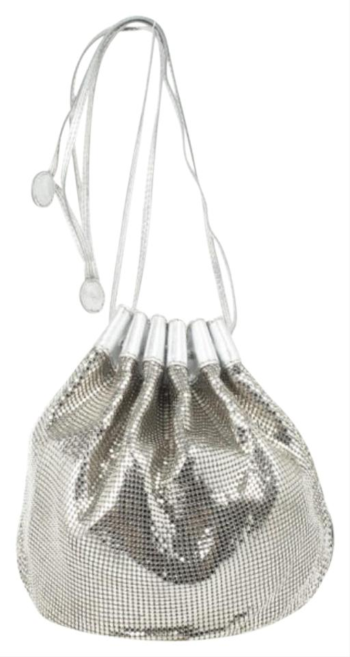 4ec073008f40 Chloé Metallic Mesh Drawstring Fabric Shoulder Bag - Tradesy