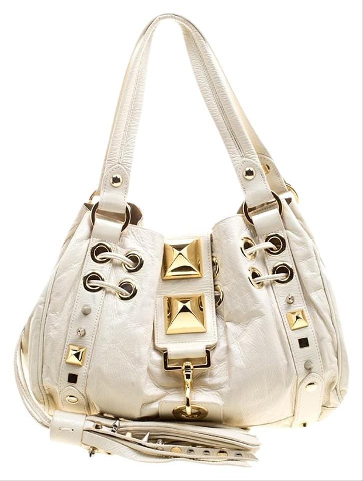 a4b477ebd0f3 Mulberry For Giles Studded Drawstring White Leather Tote - Tradesy