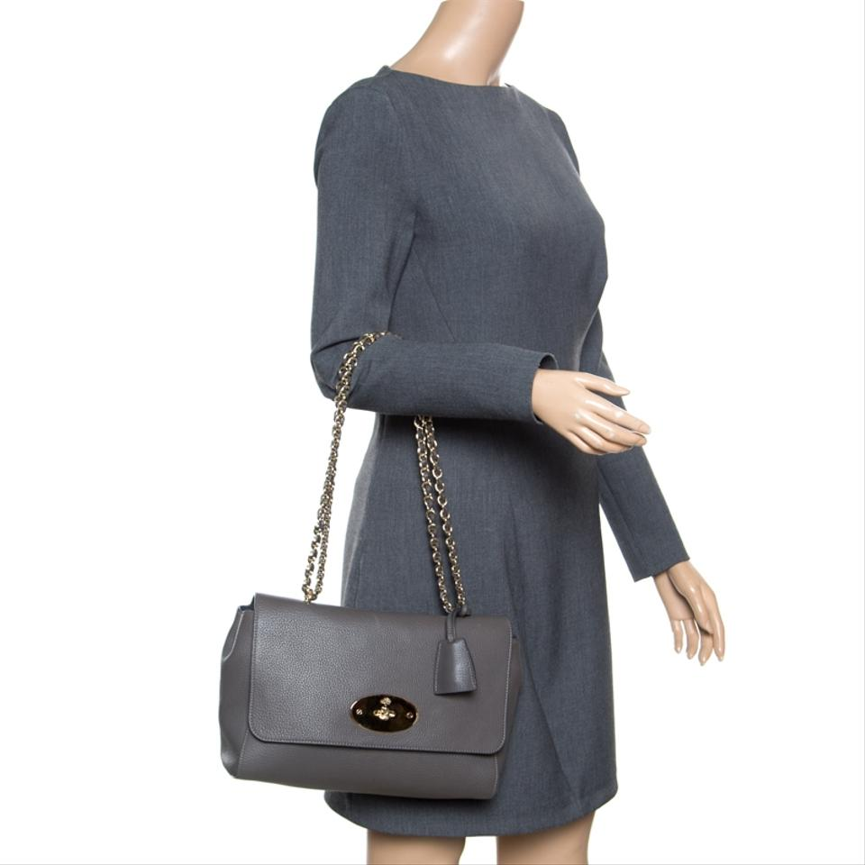 2a9b85a26396 Mulberry Lily Grey Leather Shoulder Bag - Tradesy