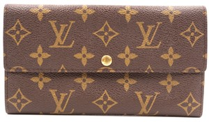 b4a49d7343a0e Louis Vuitton Monogram Long Flap Wallet Pocket bill case zip zipper sarah  vintage