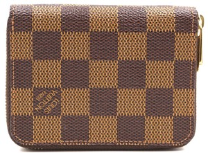 e135f9fb076e Louis Vuitton  27579 Damier Ebene Square Zip Around Card Holder Case ...