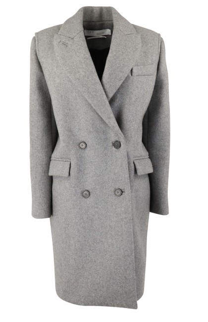 Item - Grey Double Breasted Wool Coat Size 4 (S)