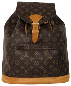 2075dc730efc Louis Vuitton Lv Montsouris Montsouris Gm Monogram Shoulder Backpack