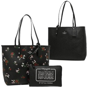20540235b2691 Coach City Signature Reversible with Floral Print Multicolor Coated ...