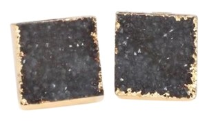 Private Collection Druzy Stone Square Stud Earring