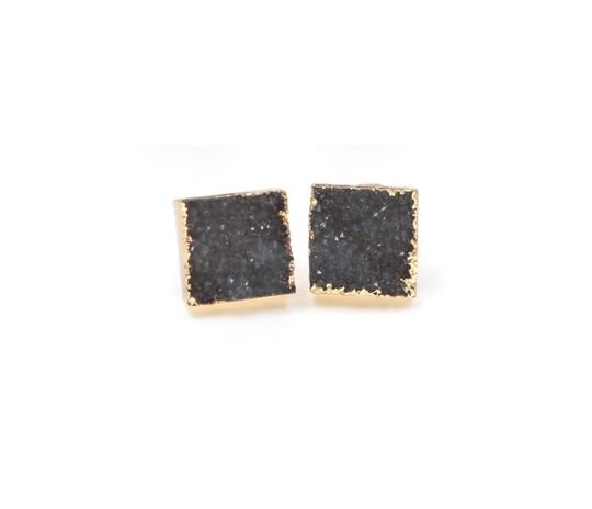 Private Collection Druzy Stone Square Stud Earring Image 2