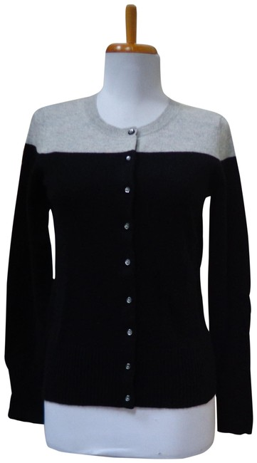 Preload https://img-static.tradesy.com/item/24874067/apt-9-black-and-heather-gray-cashmere-button-front-cardigansweater-cardigan-size-2-xs-0-1-650-650.jpg