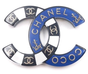 Chanel Chanel Brand New Blue Black Nautical Brooch