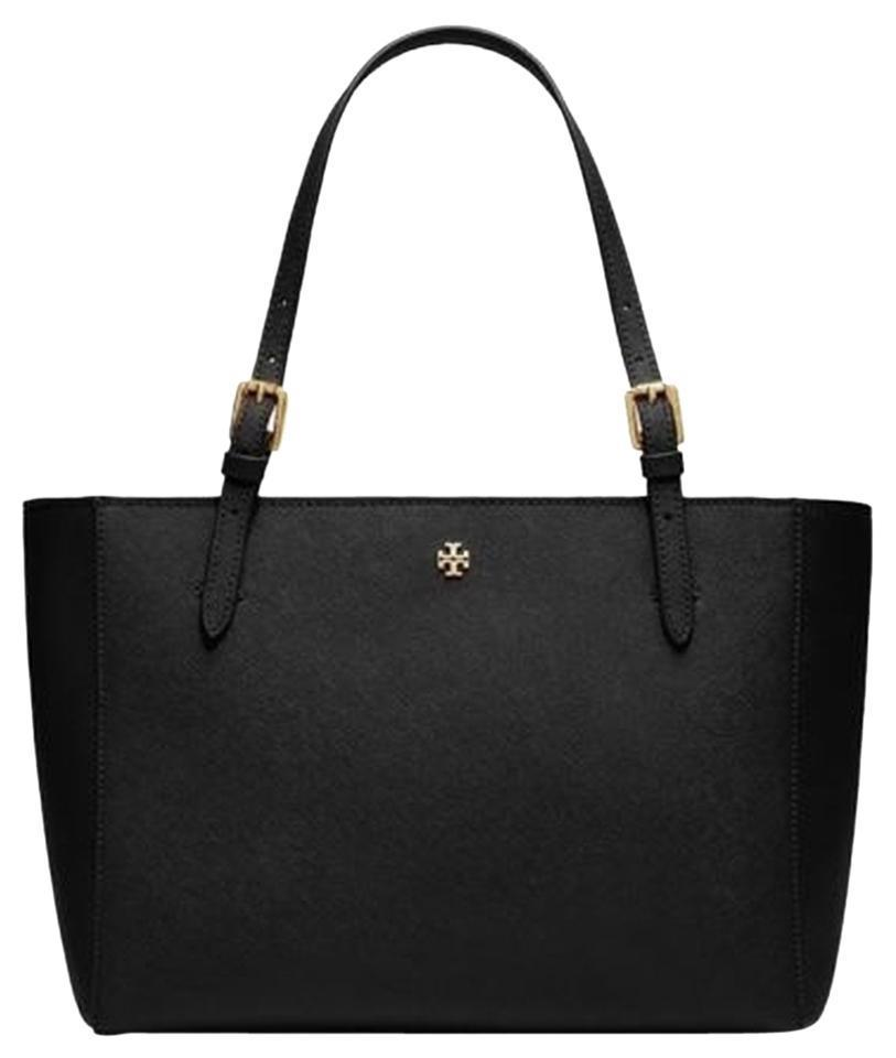 f687428c48f Tory Burch New Compartment Purse Black Saffiano Leather Tote - Tradesy