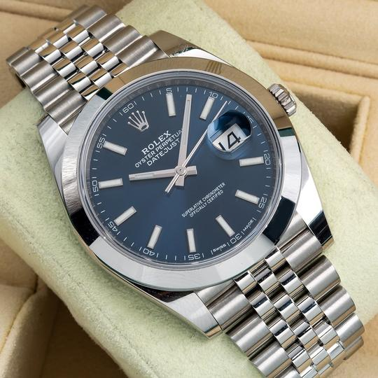 Rolex Rolex DateJust 126300 41mm Blue Dial Image 1