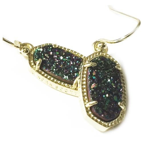 Kendra Scott Gold Lee Drop Multi Color Drusy Earrings Image 2