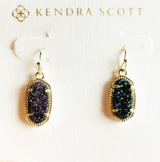 Kendra Scott Gold Lee Drop Multi Color Drusy Earrings Image 3
