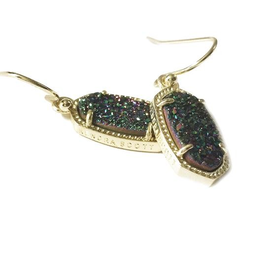 Kendra Scott Gold Lee Drop Multi Color Drusy Earrings Image 4