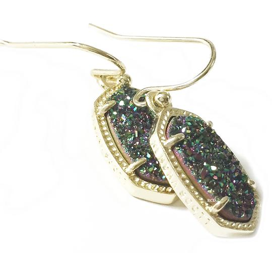 Kendra Scott Gold Lee Drop Multi Color Drusy Earrings Image 5