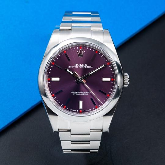 Rolex Rolex Oyster Perpetual 114300 39mm Red Grape Dial Image 1