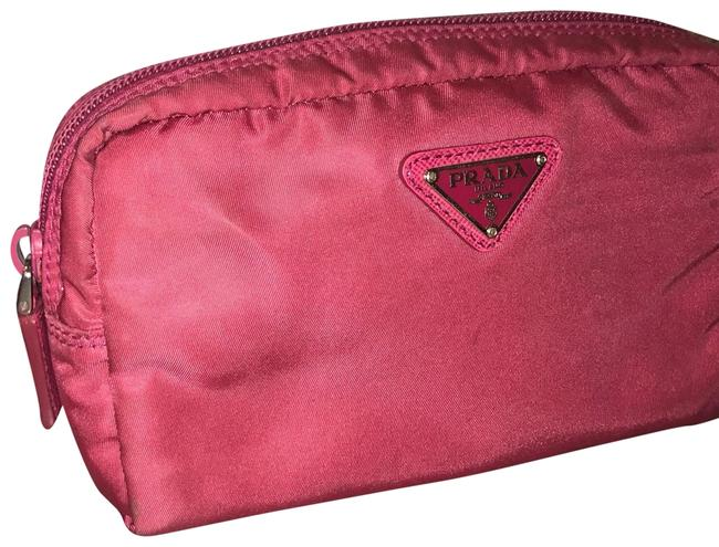 Item - Red Clutch Velo Toiletries Case Cosmetic Bag