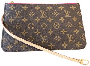 Louis Vuitton Pochette Clutch Wallets Zippy Pouch Wristlet in Brown