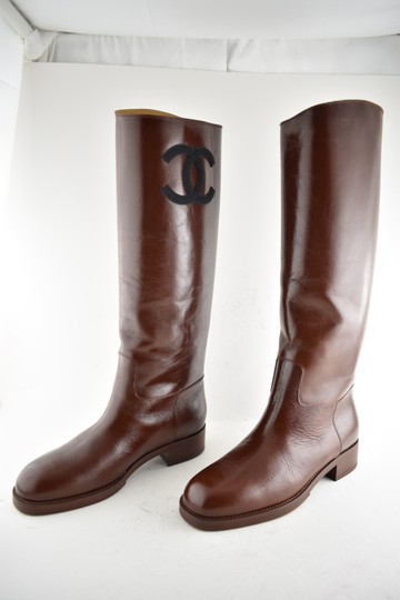Chanel Tweed Glitter Quilted Chain burgundy Boots Image 6