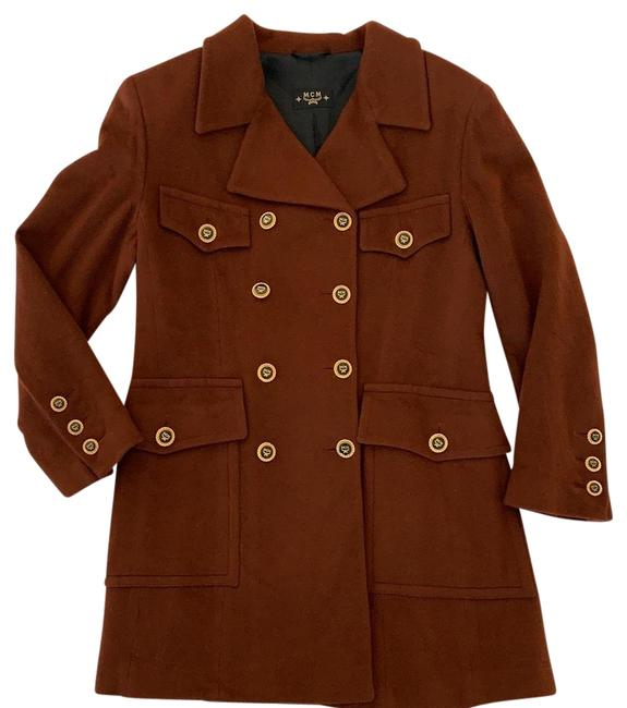 Item - Brown Military Cashmere Jacket It 40 Coat Size 6 (S)