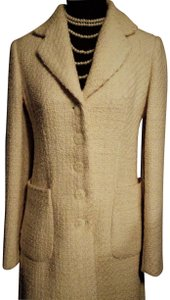 Banana Republic Tweed Wool Button Up Pea Coat