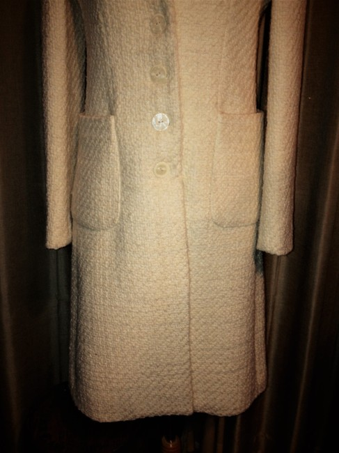 Banana Republic Tweed Wool Button Up Pea Coat Image 7