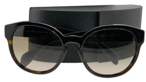 Prada PR18RS-2AU3D0-56 Oval Women's Havana Frame Brown Lens Sunglasses