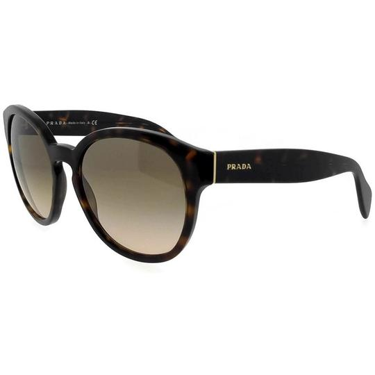 Prada PR18RS-2AU3D0-56 Oval Women's Havana Frame Brown Lens Sunglasses Image 1