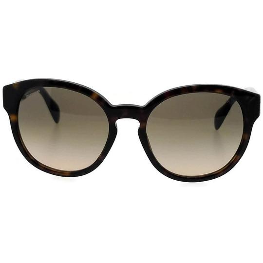 Prada PR18RS-2AU3D0-56 Oval Women's Havana Frame Brown Lens Sunglasses Image 2