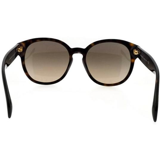 Prada PR18RS-2AU3D0-56 Oval Women's Havana Frame Brown Lens Sunglasses Image 4