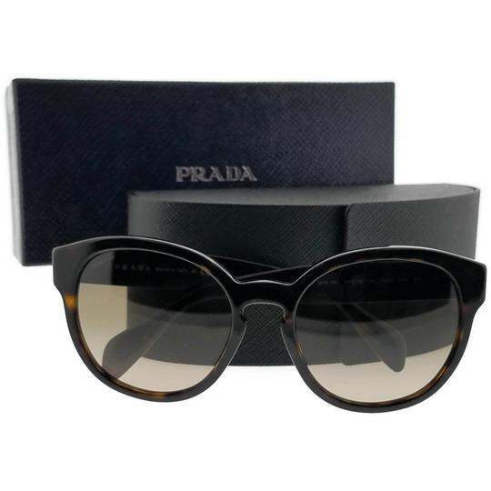 Prada PR18RS-2AU3D0-56 Oval Women's Havana Frame Brown Lens Sunglasses Image 5