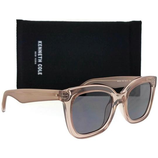 Kenneth Cole KC7210-72A-52 Square Women's Pink Frame Grey Lens Sunglasses Image 5