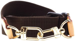 Louis Vuitton Adjustable shoulder strap cross body long wide fabric and leather
