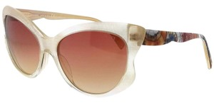 Emilio Pucci EP0049-25Z-58 Cat Eye Women's White Frame Red Lens Sunglasses