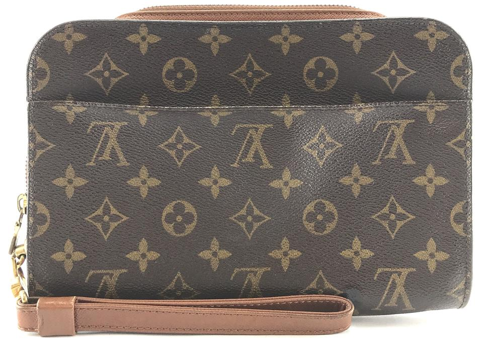 Louis Vuitton Orsay  27202 Wristlet Cosmetic Evening Makeup Beauty ... 3a3be9f069910