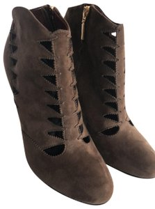 Aerin Cut-out Ankle Brown Boots