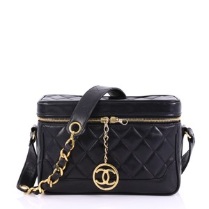 Chanel Vintage CC Charm Camera Bag Quilted Lambskin Small