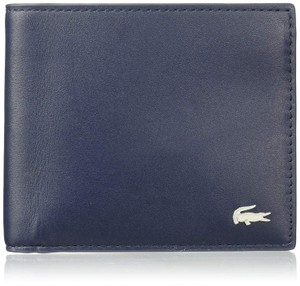 Lacoste BRAND NEW MEN'S LACOSTE PEACOAT NAVY BLUE BILLFOLD LEATHER COIN WALLET
