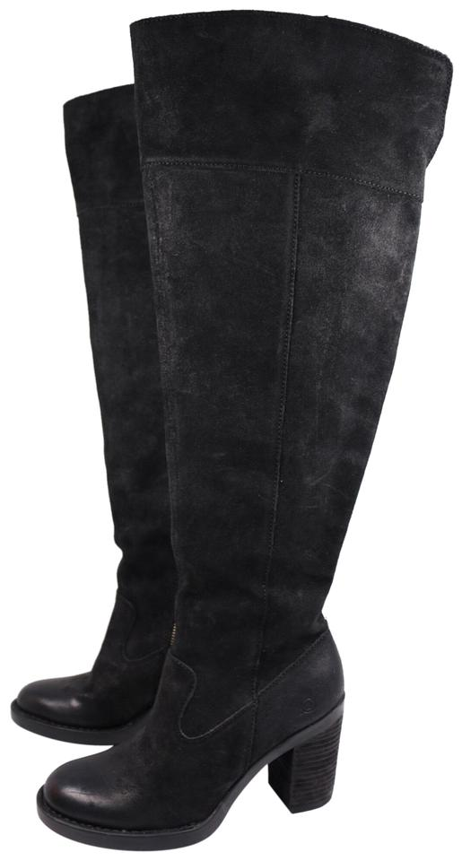 4fbfff75798 Børn Black Kathleen Women s Distressed Suede Over The Knee High Boots  Booties