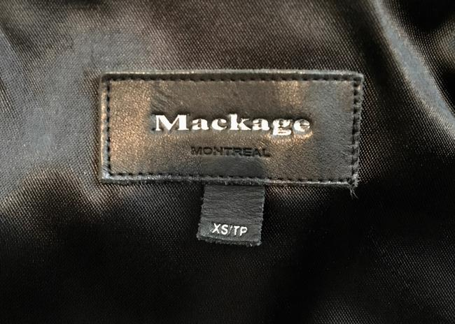 Mackage Wool Patricia Wool Leather Accents Daphne Browell Pea Coat Image 3
