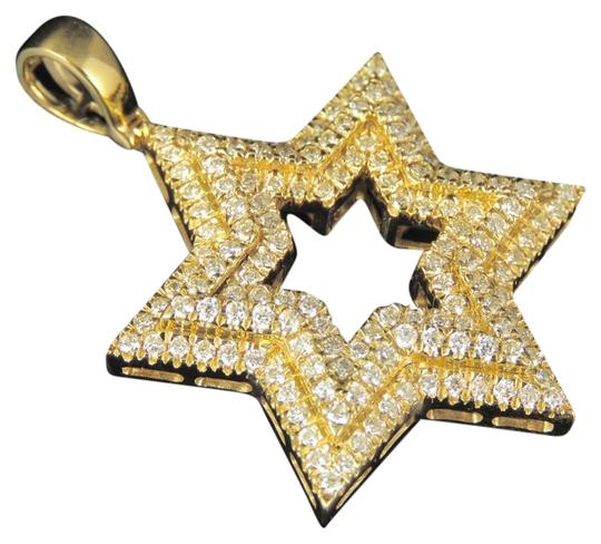 Jewelry Unlimited 10K Yellow Gold Real Diamond Star Of David Pendant 1.85 CT 1.75