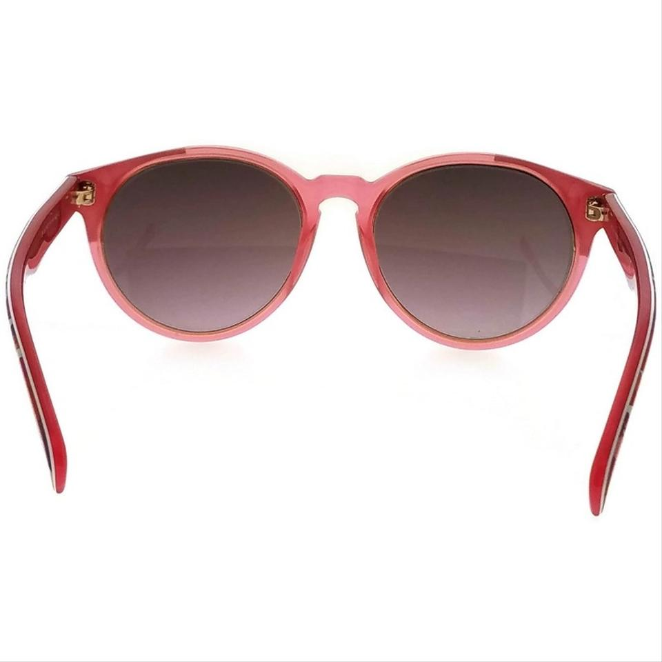 019fe5cd8f Emilio Pucci EP0028-74T-55 Round Women s Pink Frame Red Lens Genuine  Sunglasses. 12345