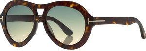 Tom Ford Tom Ford FT0514 ISLAY 52W Dark Havana / Gradient Blue Sunglasses