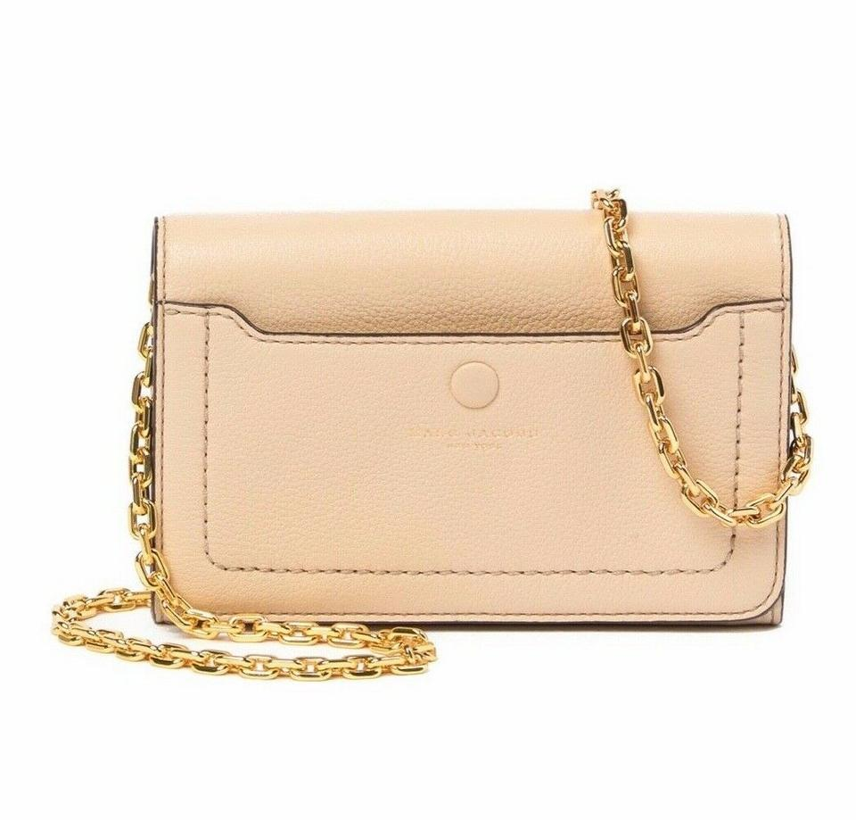 genuine shoes popular style rich and magnificent Marc Jacobs Empire City Buff Beige Leather Cross Body Bag