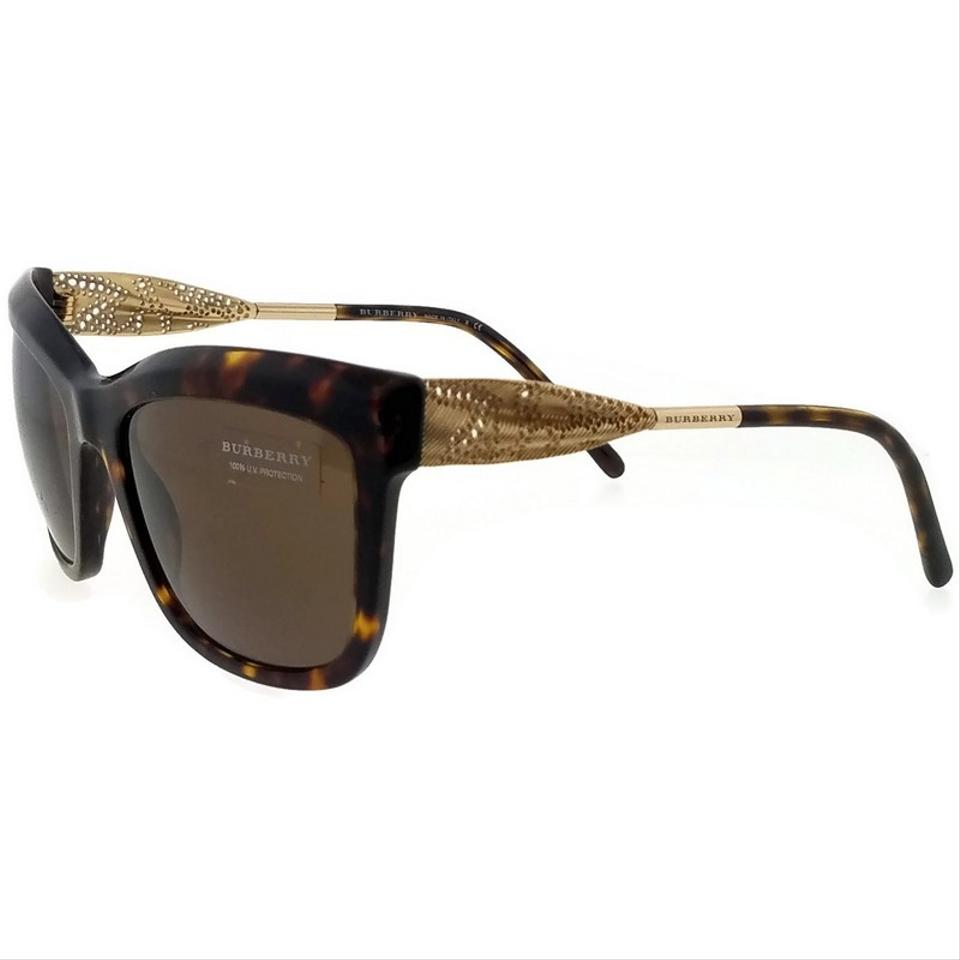 6663f9ec8c4c Burberry BE4207-300273-56 Wayfarer Women s Havana Frame Brown Lens  Sunglasses Image 5. 123456