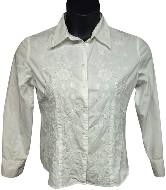 Preload https://img-static.tradesy.com/item/24875288/white-embroidered-front-button-down-cotton-shirt-blouse-size-12-l-0-2-650-650.jpg