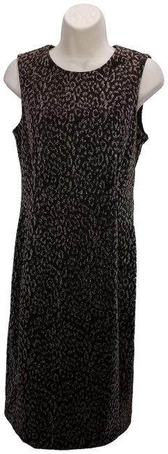 Preload https://img-static.tradesy.com/item/24875464/calvin-klein-black-animal-print-modest-midi-mid-length-cocktail-dress-size-6-s-0-1-650-650.jpg