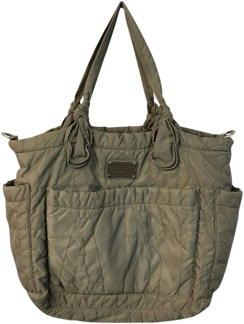 Item - Quilted Canvas Taupe Nylon Tote